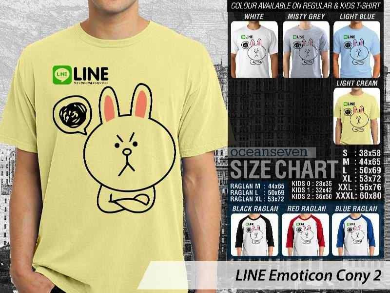 KAOS IT LINE Emoticon Cony 2 Social Media Chating distro ocean seven