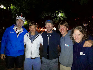 It was such a great surprise to be greeted by Brian, Blake, Dylan, and Sarah at the finish. Sarah and I were neck and neck, but then she braved the cold on night 2, pushing on much farther than me and finishing 4 hours ahead of me.