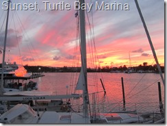032 Sunset, Turtle Bay Marina