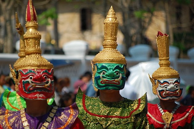 Lao dancers during New Year