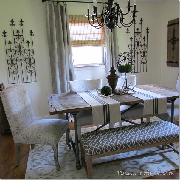 Summer Dining Room Tour with Farmhouse Dining Table