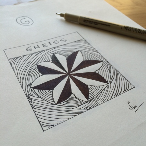 Gneiss zentangle