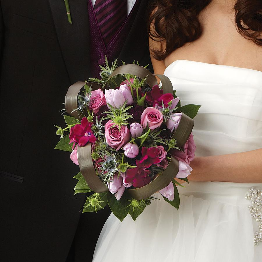 Purple Passion Bridal Bouquet Loading. BN 84-11J