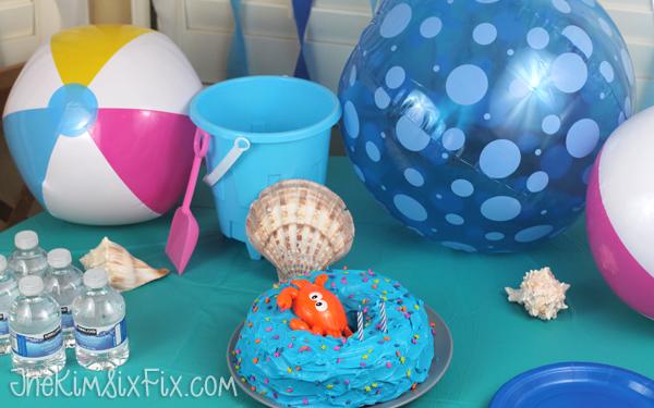 Birthday party ocean
