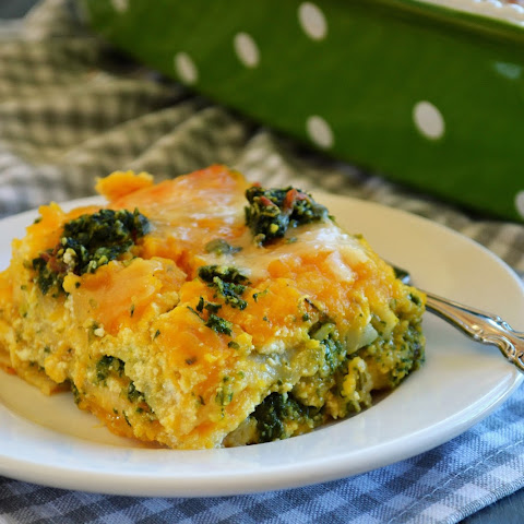 Butternut Squash Lasagna with Spinach Pumpkin Seed Pesto