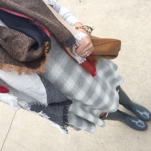 swing dress, how to wear hunter boots, ootd