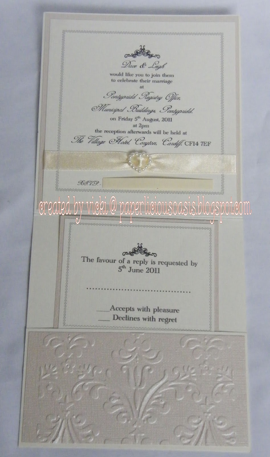 25th wedding invitation
