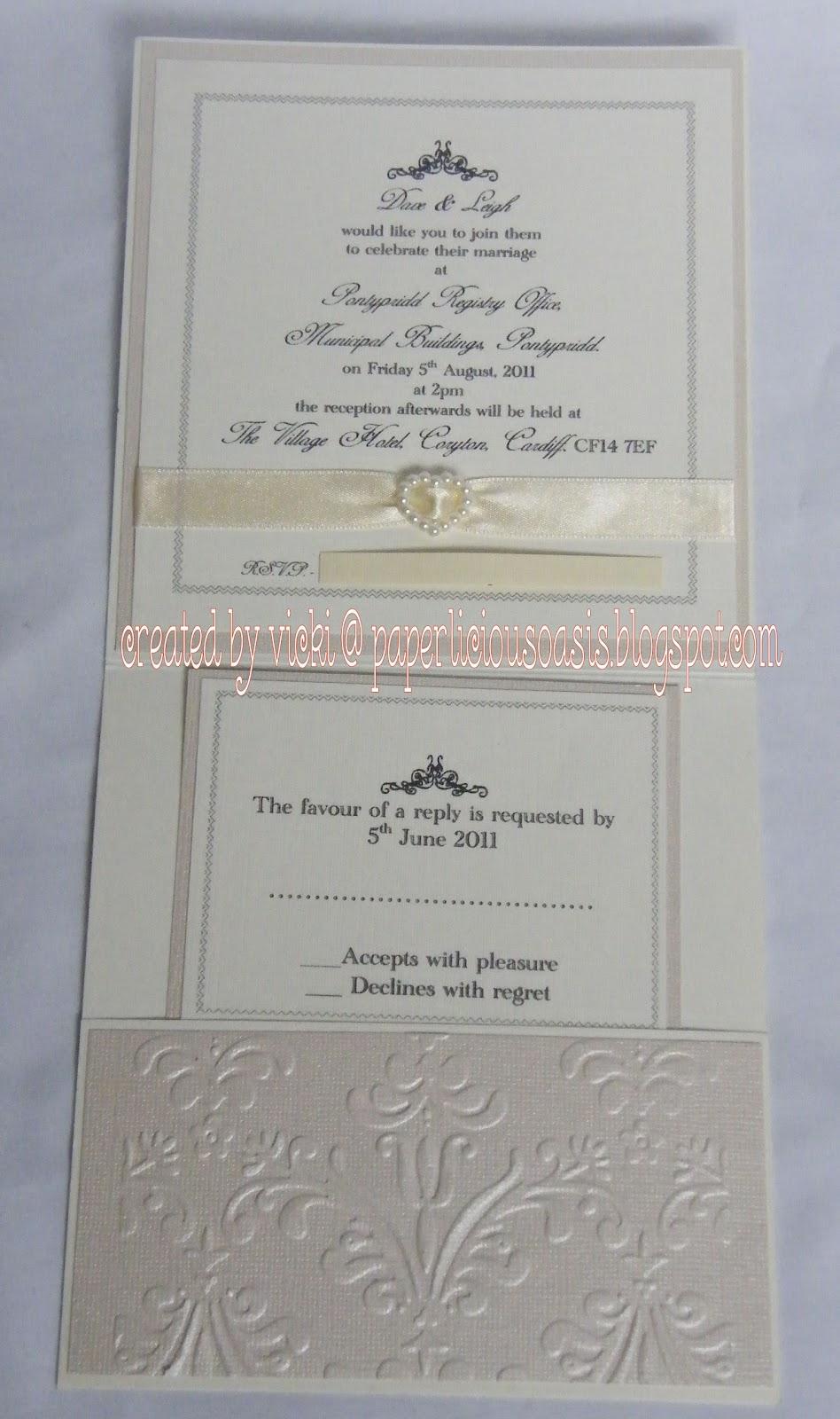 25th wedding invitation