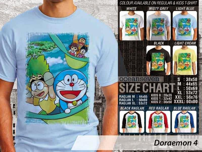KAOS Doraemon 4 Manga Lucu distro ocean seven