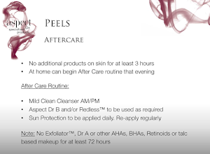Chemical peel aftercare