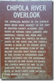 Chipola River Overlook sign