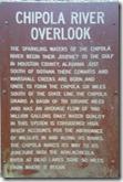 Chipola River Overlook sign