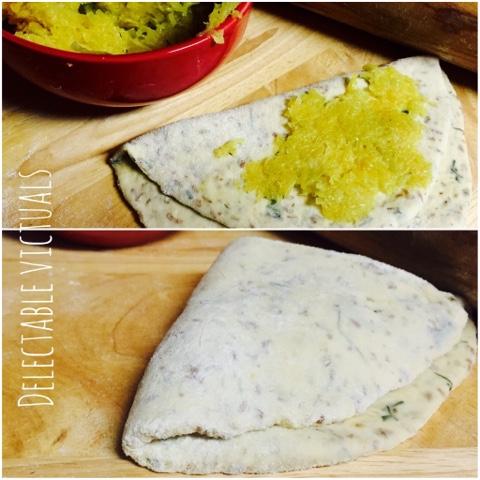 kohlrabu kale stuffed naan indian flat bread