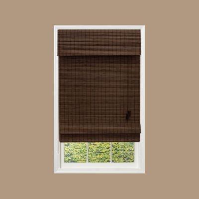 brown bamboo roman shades