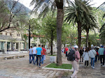 Walking to the medieval old town of Kotor