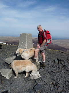 Roger at Skiddaw Summit