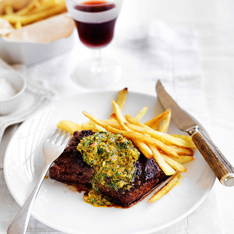 Onglet with Café de Paris butter and frites