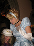 Cinderella talking to Hannah at the Akershus restaurant for lunch in Norway in Epcot 06072011