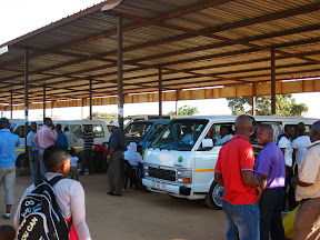 The taxi rank in Bushbuckridge.  I had never taken a good picture of a taxi rank before, and this one is fairly typical of the smaller ones.