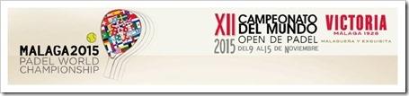 El Campeonato del Mundo de Pádel Open 2015 se celebrará en Malaga.
