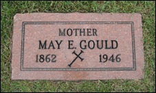 GOULD_May E_headstone_1862-1946_MtOlivetCem_DetroitWayneMichigan_enh