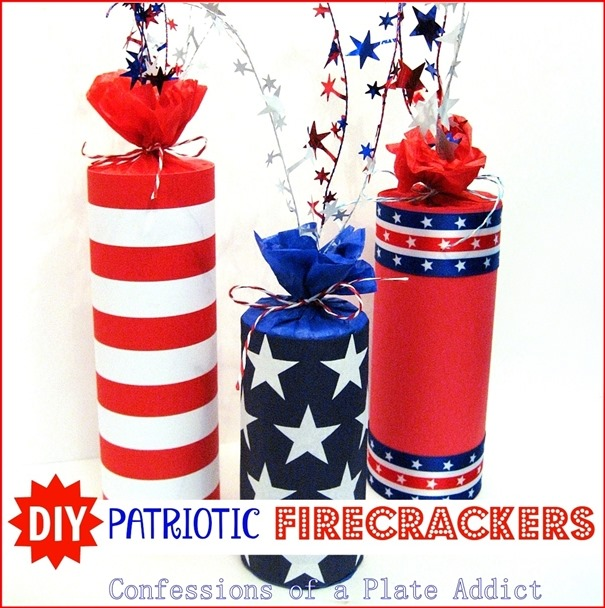 Patriotic Firecracker Decor - Confessions of a Plate Addict
