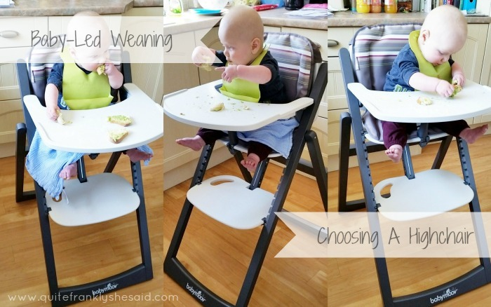 babyled weaning choosing a highchair