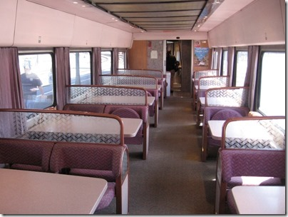 IMG_2796 Amtrak Cascades Talgo Pendular Series VI Dining Car Interior at Union Station in Portland, Oregon on May 8, 2010