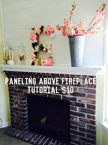 Paneling above fireplace tutorial, beachy cottage look