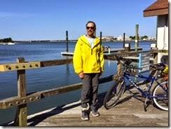 Jonny biking in Beaufort, NC