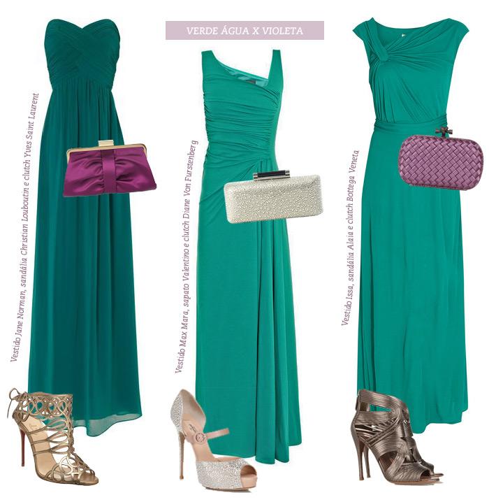 Que sapato usar com vestido longo verde agua