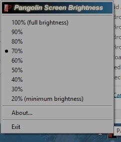 pangolin screen brightness tool windows