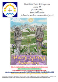 Cover of Correllian Times Emagazine's Book Issue 43 MARCH 2010 Merry Spring Equinox