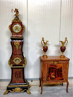 Антикварные напольные часы в стиле Буль XIX век. 22500 евро.