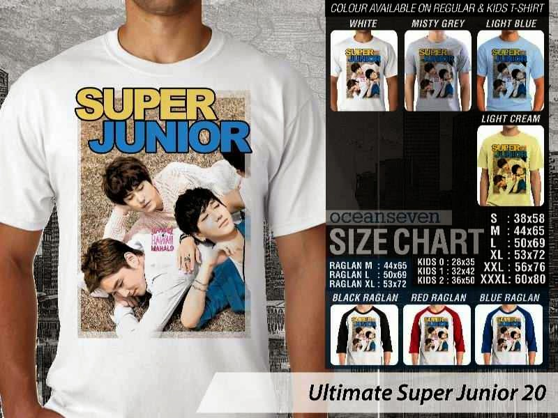 Kaos K Pop SUJU Ultimate Super Junior 20 Boy Band Asal Korea distro ocean seven