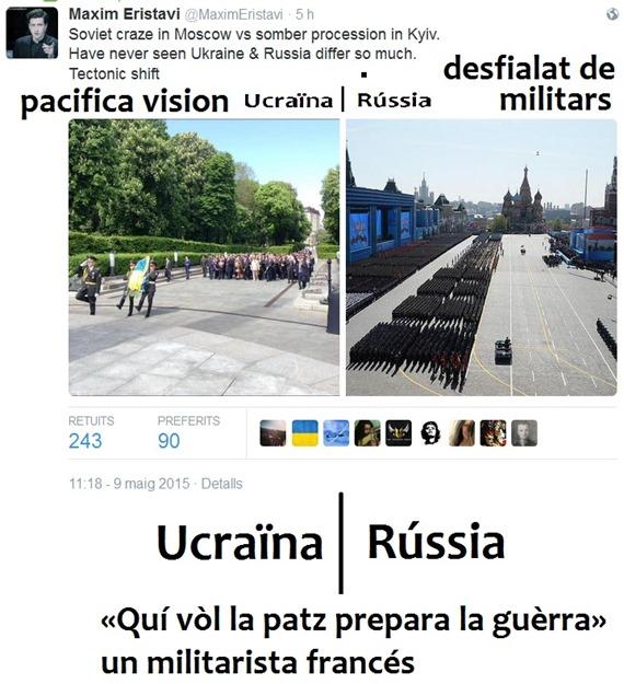 Ucraïna contra Rússia 8 de mai de 2015