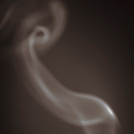 Smoke by Joshua Clifford - Abstract Macro ( trail, minimal, minimalism, smoke, dark, monochrome, minimalist, simple, simplicity, brown, one tone, monotone )