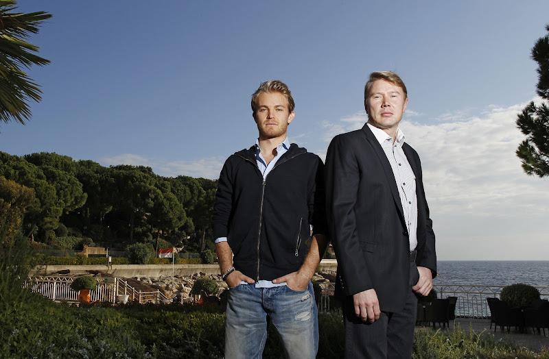 Нико Росберг и Мика Хаккинен в Монако 2012