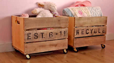 10 DIY Projects For Single Mothers - Crates As Storage