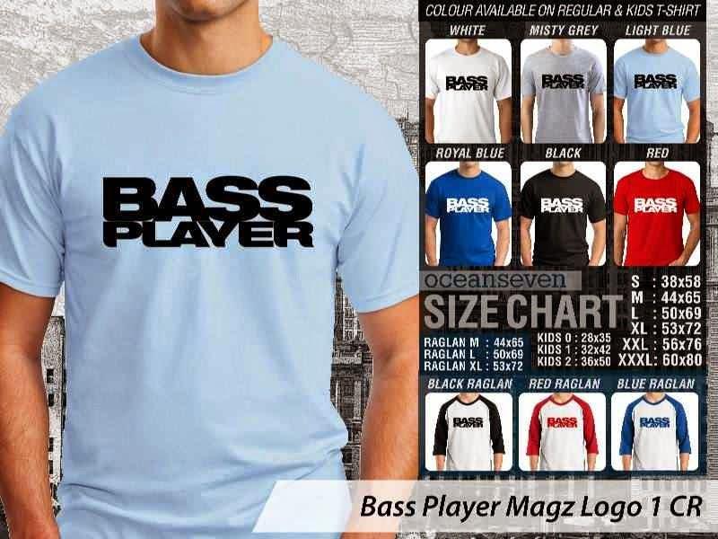 Kaos Magz Bass Player Magz Logo 1 Majalah & Media distro ocean seven