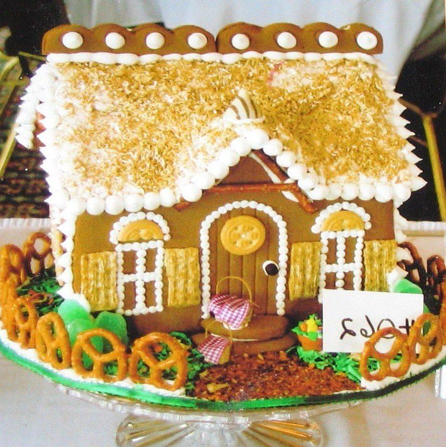 A Springtime Gingerbread House