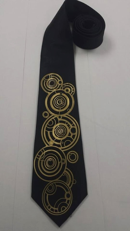 The Doctor's Name in Gallifreyan Men's Necktie from Pandoras Productions