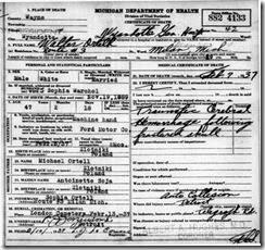 ORTELL_Walter_death cert_7 Feb 1937_WyandotteWayneMichigan