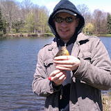 My brother, Christopher at our communitys fishing event.
