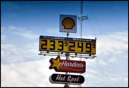 02e - I-26 cheap diesel Shell Station