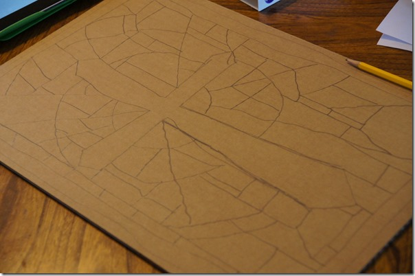 draw a simple picture on cardboard