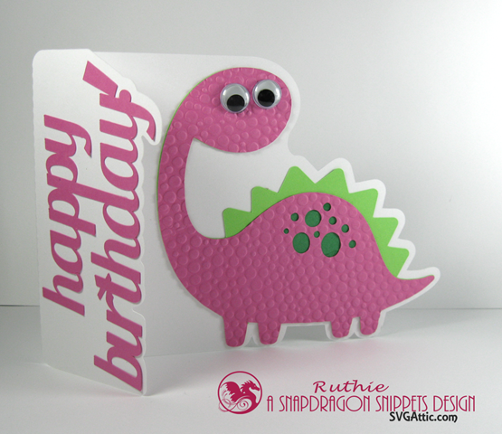 Bronto dinosaur a7 card - SnapDragon Snippets - Ruthie Lopez - Tarjeta - Card 2