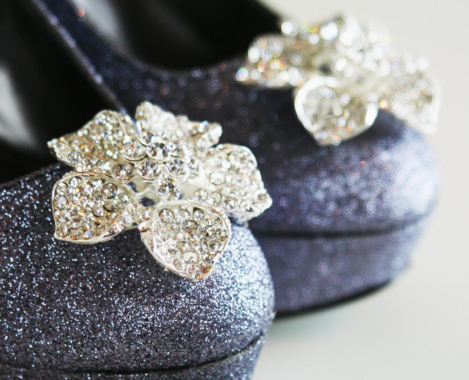 Pewter Bridal Sparkle PUMPS