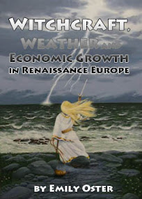 Cover of Emily Oster's Book Witchcraft Weather and Economic Growth in Renaissance Europe