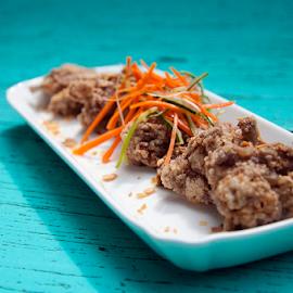 Crispy Ribs  by Valeria Vanessa - Food & Drink Plated Food ( foods, yummy, plated food, food photography, table top, crispy )